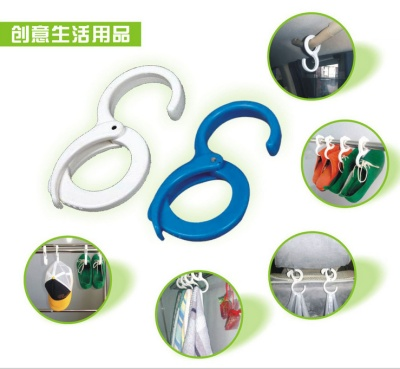 Windproof hook handcuffs type creative home appliance multifunctional convenient free strong plastic hook