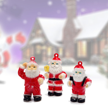 Plastic toys, 12 models of Santa Claus model Christmas products accessories