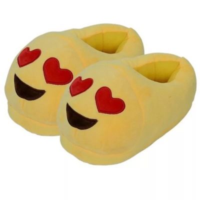 Emoji adult expression of cotton slippers with a half pack plush slippers WeChat expression QQ