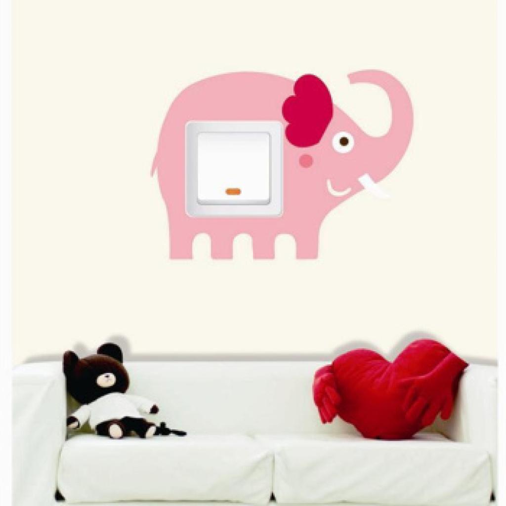 创意田园卡通可爱动物个性插座贴装饰现代家居欧式开关贴墙贴电源