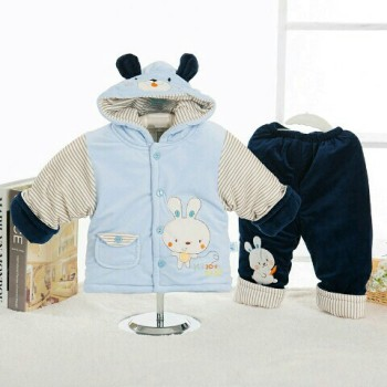 Autumn and winter clothes for men and women aged 0-1 baby baby infant suit coat diamond Fleece Jacket