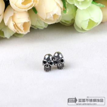 Medical stainless steel jewelry titanium earrings hypoallergenic Punk Skull Stud Earrings