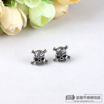 Skull earrings titanium earrings earrings earrings jewelry personality hypoallergenic stainless steel
