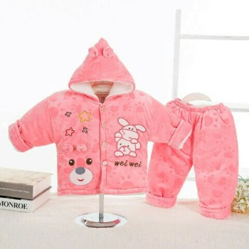 Autumn and winter men and women aged 0-2 baby infant clothes in winter coat suit children thickened coat