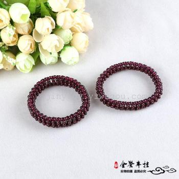 Transport vigorous beauty of natural love Wine Red Garnet Bracelet with crystal bracelets