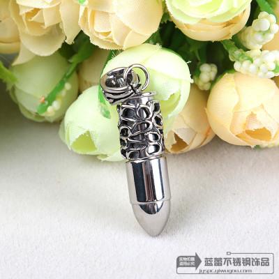 Stainless steel pendant Korean hip hop rock punk trendsetter bullet titanium pendants