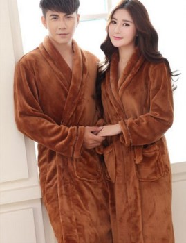 coral fleece for male and female lovers wear flannel pajamas gown thickening Home Furnishing Hotel bathrobe