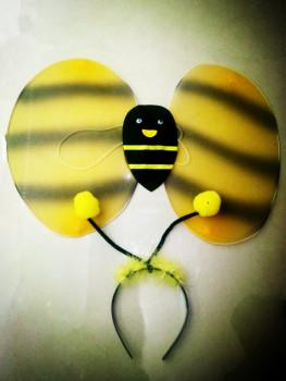可爱公主天使小蜜蜂蝴蝶翅膀双层翅膀3件套厂家直销来