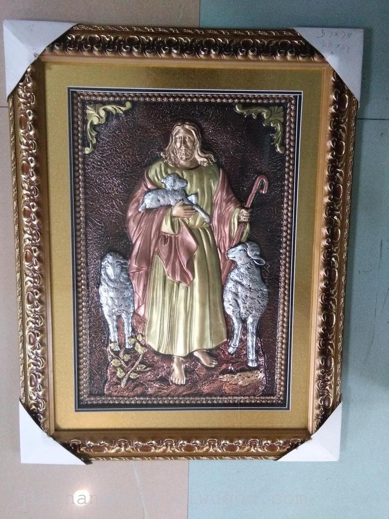 欧式装饰画 仿浮雕宗教人物画 仿古铜画 _ 金昌鸿画框图片