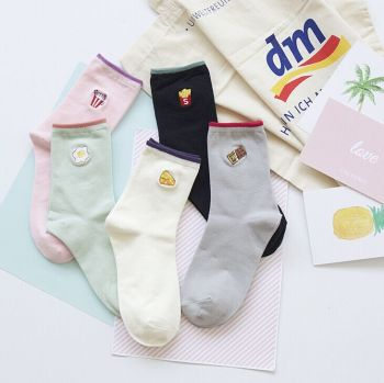 The children of autumn and winter sports socks socks cotton socks socks color cartoon