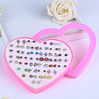 Korean version anti-allergy plastic environmental protection small ear nail wholesale ear accessories taobao floor stand