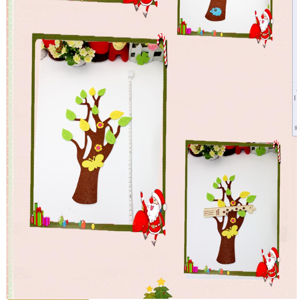 厂家直销幼儿园教室布置墙贴 无纺布大树 黑板贴纸装饰画千叶树