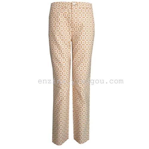commodity counters dingguagua colour cotton trousers leisure pants nine trousers Haren pants pencil pants feet