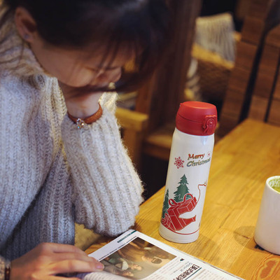 Insulation Cup Female Lovely Student Creative Convenience Christmas Fashion Children Stainless Steel Cups