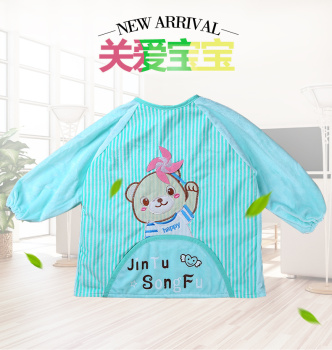 soft anti clothing children eat baby clothes and apron waterproof protective clothing for a kindergarten