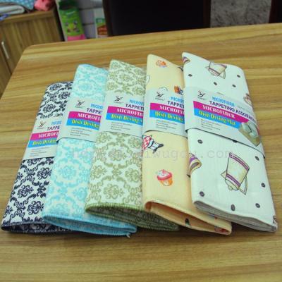 Superfine fiber mat mat water absorbent pad printing heat insulation pad mat made of foreign trade