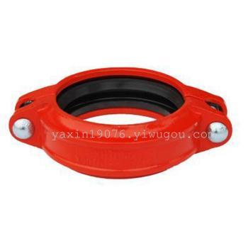 厂方直销沟槽管件刚性卡箍 消防沟槽管件批发