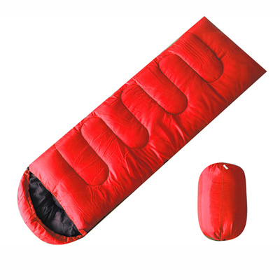 Factory direct thick warm wind cold hooded sleeping bag envelope camping sleeping bag