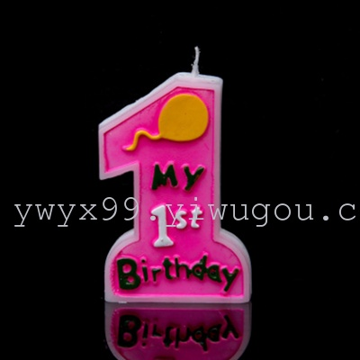 Birthday Candle Large Number One Year Old Baby Hundred Days Celebration Party No Smoke