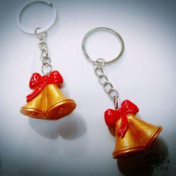Christmas key ring resin Christmas bell