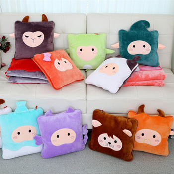 Twelve constellation pillow quilt cute plush toys pillow blanket of air conditioning
