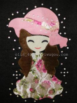 Drill Watermelon Red Hat Flower Girl transfer mask / Jeans / Kids / Leggings press