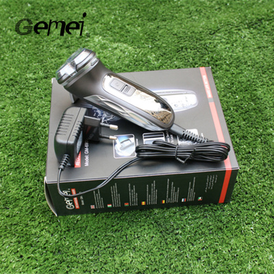 Gemei 6900 electric shaver rotary three head shaving razor body wash