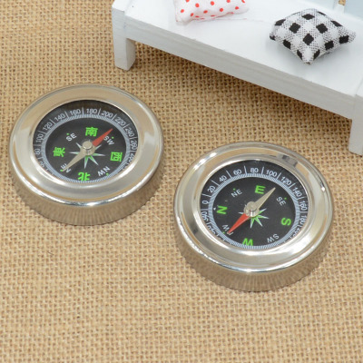 Factory Outlet 75MM round stainless steel compass Feng Shui compass compass compass