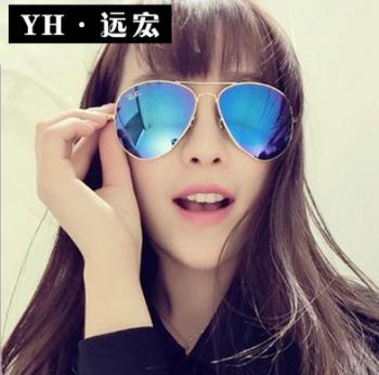 Fashion simple couple models sunglasses