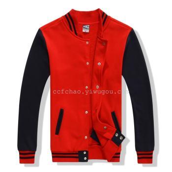 S casual loose type baseball uniform custom cut long sleeved sweater coat custom-made