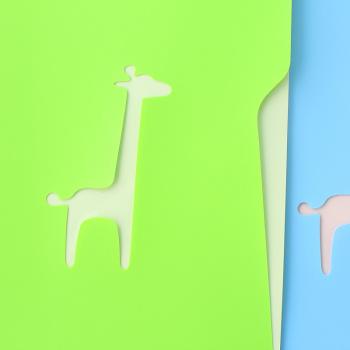 韩国创意文具 糖果色可爱动物双层a4文件袋l型文件夹文件套