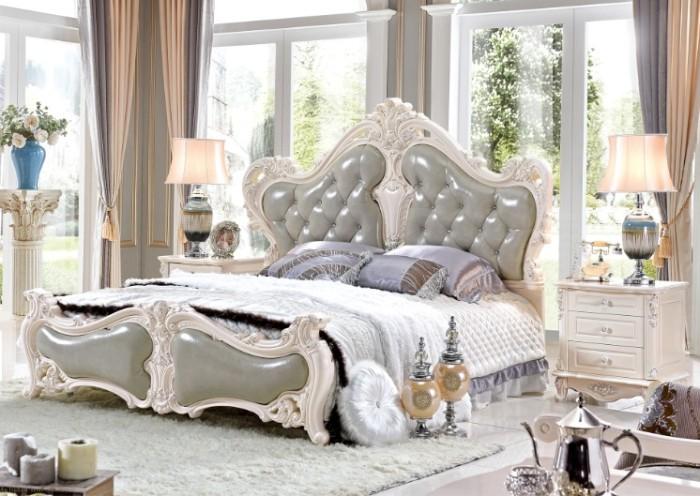 铭华家具欧式套房家具 欧美风格家具 席梦思床 床头柜