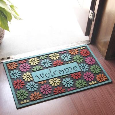 The new flocking rubber cushion rubber door mat