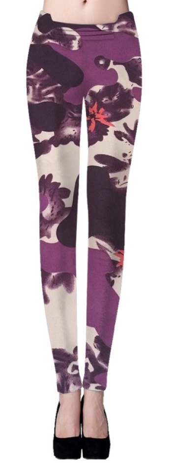 Foreign trade abstract series welcomes Advisory interview-style variety leggings