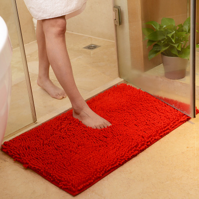 The door pad pad pad chenille custom bathroom mat mat