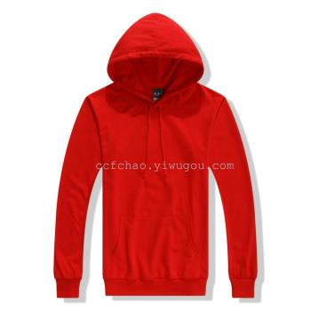Thin section a solid color jacket with hood front pocket sweater men lovers