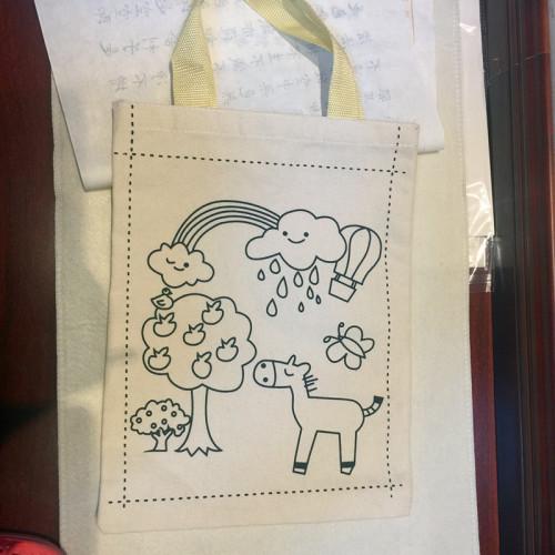 儿童手绘创意空白帆布袋手提袋环保袋
