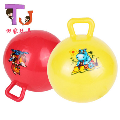 Direct selling cartoon children's inflatable toys can jump can sit 60cmPVC ball handle