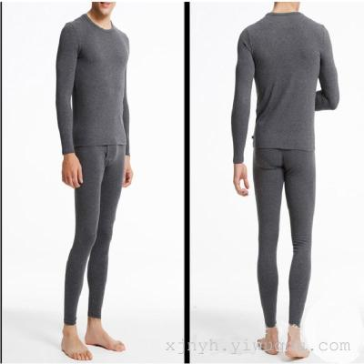 Men's underwear men with cashmere lady long johns winter gold armor suit warm clothes
