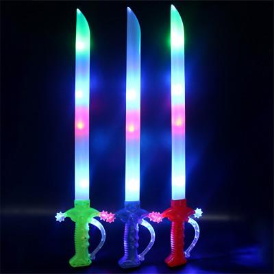 Light toy long sword music plastic sword ground spread night market popular toys wholesale factory direct sale.