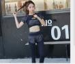Quick-drying body clothing autumn winter women's new running Slim yoga clothing three-piece