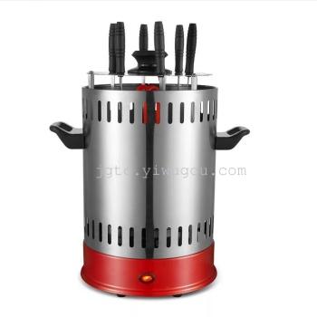 Korean barbecue smoke machine household 360 automatic rotating electric oven
