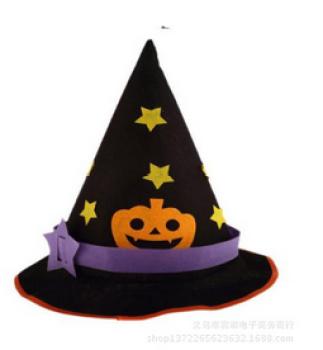 星星无纺布三角帽 万圣节南瓜巫婆帽装饰化妆舞会派对图片