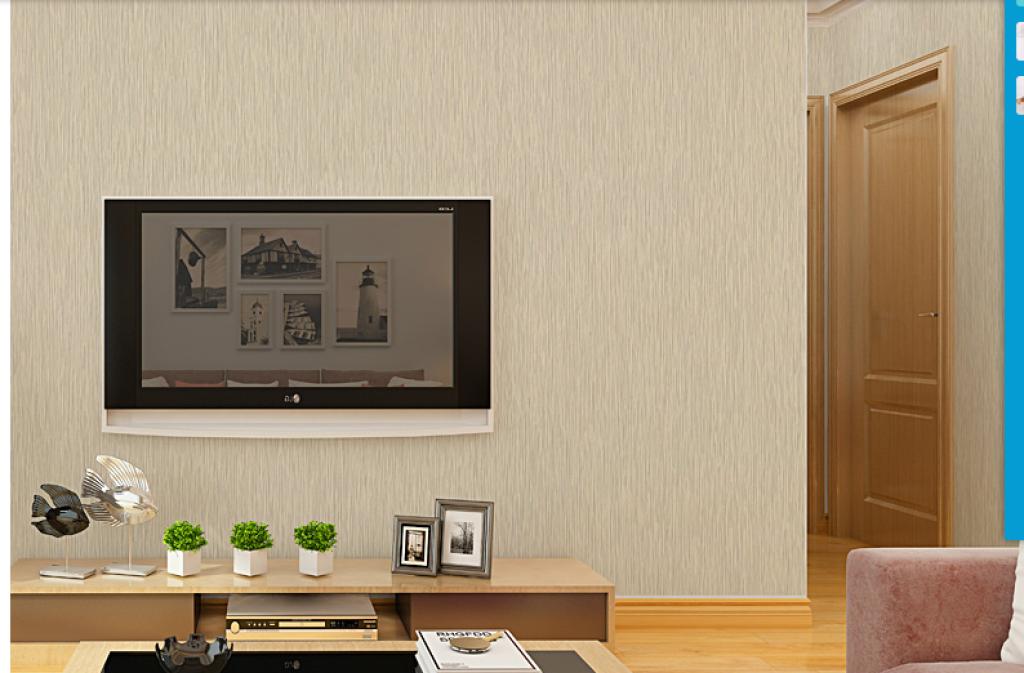 细竖条纹墙纸 无纺布卧室客厅墙面家装现代简约