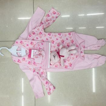Baby romper Jumpsuit cotton spring summer hat Socks 6 piece cartoon baby clothes clothes