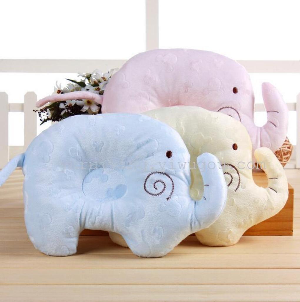婴儿定型枕纯棉卡通宝宝枕头防偏头