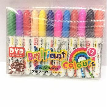 儿童旋转彩色蜡笔 12色环保套装 固体炫彩棒