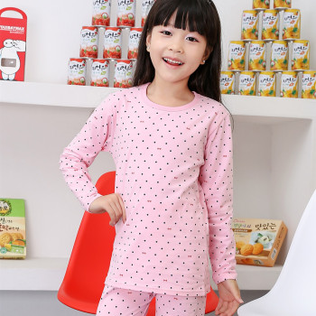The new children's underwear suit children Girls Cotton Pajamas 1605 cotton Lycra suit children Home Furnishing