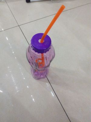 Beverage cup with a rope Straw beverage cup Creative Cup beverage cup