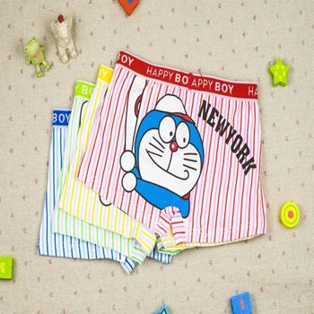 Vertical bars cute cat boys ' boxer briefs underwear men KY-923